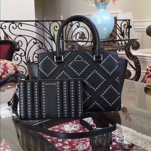 Michael Kors studded Selma handbag&wallet set